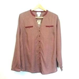 SOFT SURROUNDINGS Button Down Long Sleeve Shirt